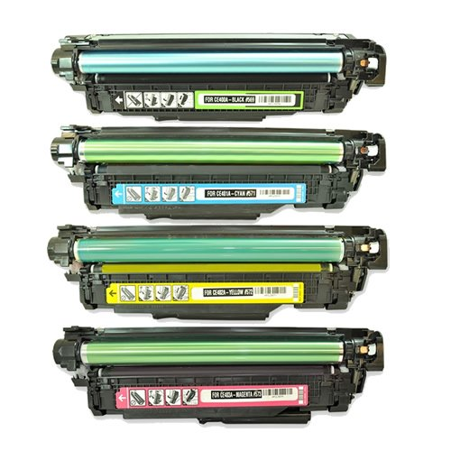 TonerBoss HPCLCE400S4 Black,Cyan,Magenta,Yellow , 4-Pack Generic Remanufactured Toner Cartridge Replacement for HP 507A