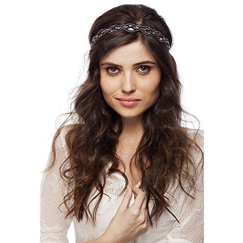 Bebo Accessories Women's Beautiful Handmade Beaded High Class Elastic Headband One Size Multicolored