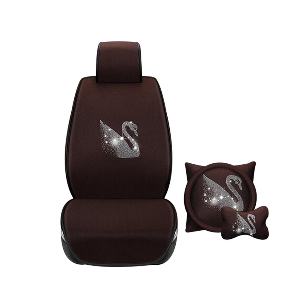 Auto Accessories New Summer Car Seat Free Ice Ice Car Seat Seat Cover Four Seasons Universal Car Accessories, Brown