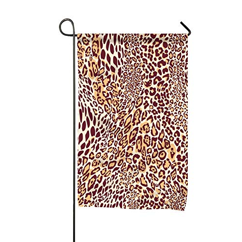 FunnyLife Outdoor Decorations Flag - Garden Flags for Yard Decorations, Polyester Double Sided Classic Leopard Texture Pattern, 16x30 inch (Pattern Uconn)