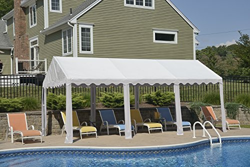 ShelterLogic 25887 Party Tent with 8-Leg Galvanized Steel Frame, 10 x 20-Feet/3 x 6m, White
