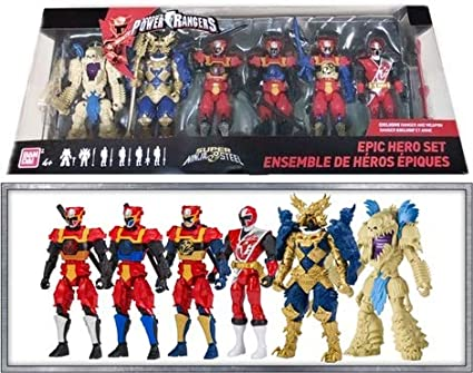Power Rangers Super Ninja Steel Epic Hero Action Figure 6 Pack with Red Ranger
