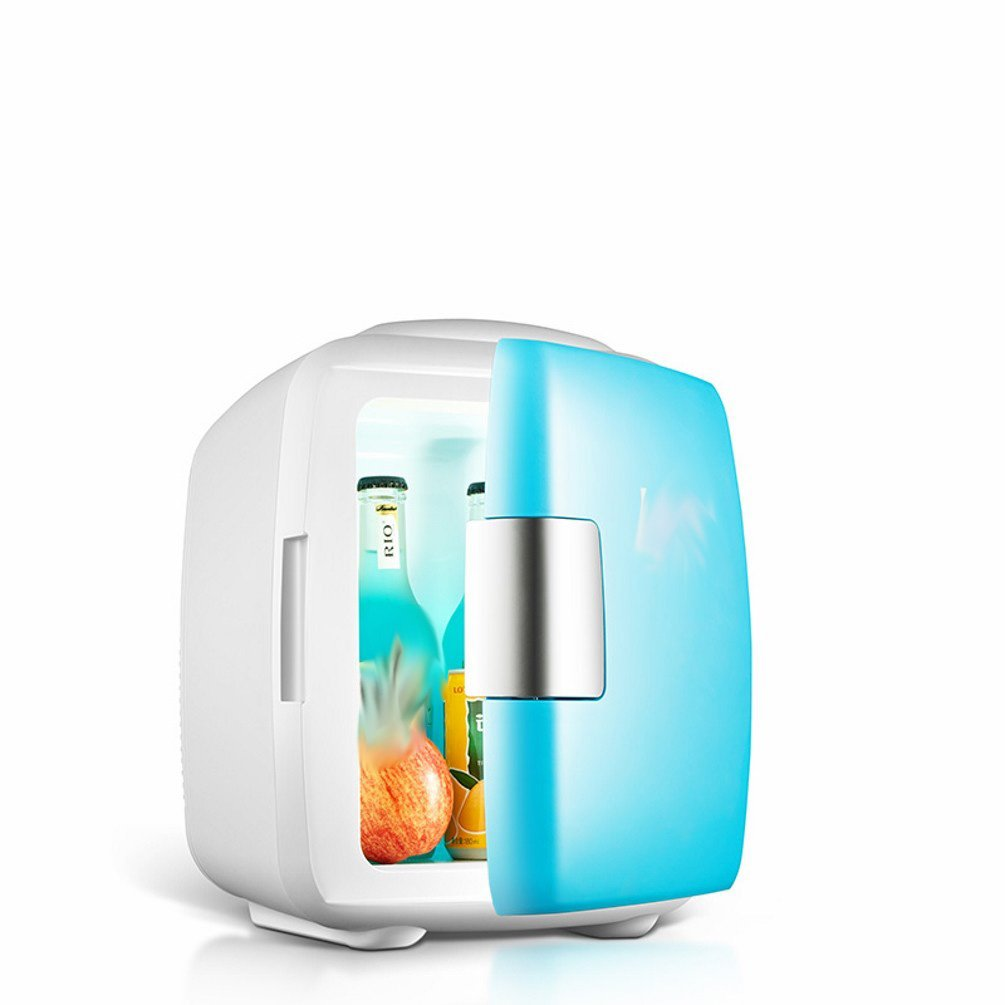 HOMEE @ Car Refrigerator 8L Car Home Dual-Use Dormitory Mini Mini-Refrigerator Small Home Refrigeration Students Cold and Warm Box,Blue,8L