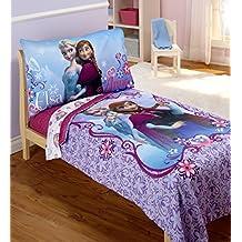 Disney- Frozen 4 Piece Toddler Bedding Set