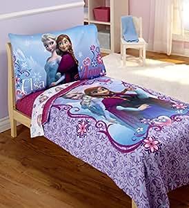 Amazon.com : Disney Frozen 4 Piece Toddler Bedding Set : Baby