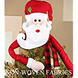 OurWarm Large Santa Christmas Tree Topper for Christmas Tree Decorations