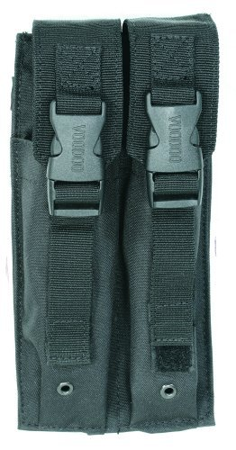 VooDoo Tactical 20-9339001000 Mp5 Mag Pouch, Black, Double