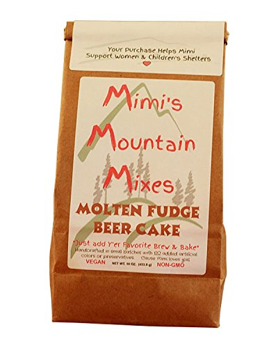Mimi's Mountain Mixes Molten Fudge Beer Cake (Mix Cake Lava)