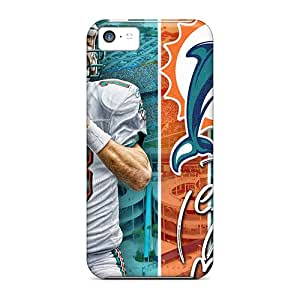 Excellent Hard Phone Cover For Iphone 5c With Support Your Personal Customized Colorful Miami Dolphins Skin SherriFakhry
