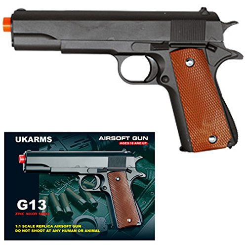 UKARMS COLT 1911 Metal Airsoft Spring Action Pistol M1911 M9
