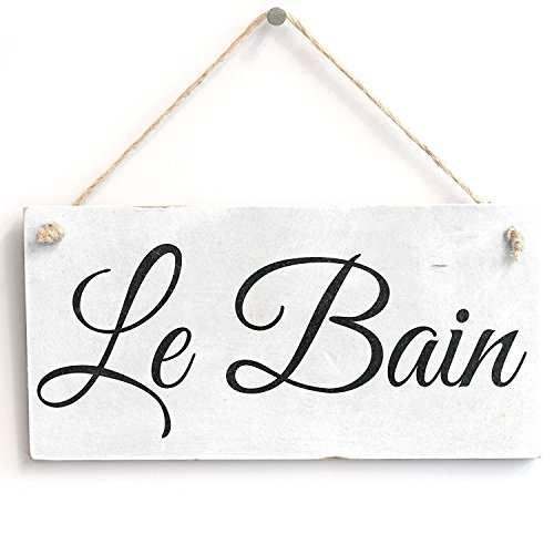 - Meijiafei Le Bain - Shabby Chic Gift Sign Plaque 10