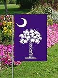 "Custom Decor Blue Palmetto Tree 12 x 18″ Garden Flag"""