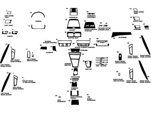 Rdash Dash Kit Decal Trim for BMW X3 2004-2010 - Wood Grain (Zebrano Mahogany)