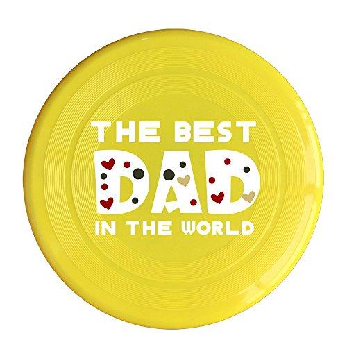 VOLTE The Best Dad In The World Yellow Flying-discs 150 Grams Outdoor Activities Frisbee Star Concert Dog Pet Toys