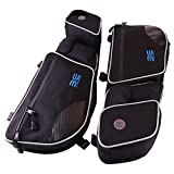 #9: Bevel Engineering Door Bags for Can Am Maverick X3 2017 2018 Passenger And Driver Side Storage Bag with Knee Protection