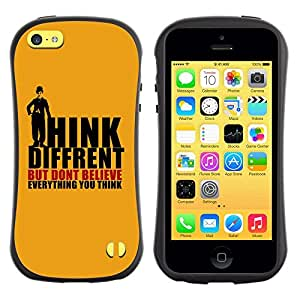 Fuerte Suave TPU GEL Caso Carcasa de Protección Funda para Apple Iphone 5C / Business Style Think Different Believe Thoughts Quote