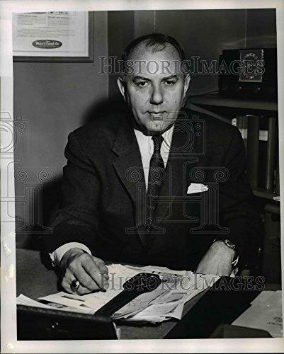 1956 Flock Photo Norman Leavitt, head of merchandising at Meier & Frank Co.