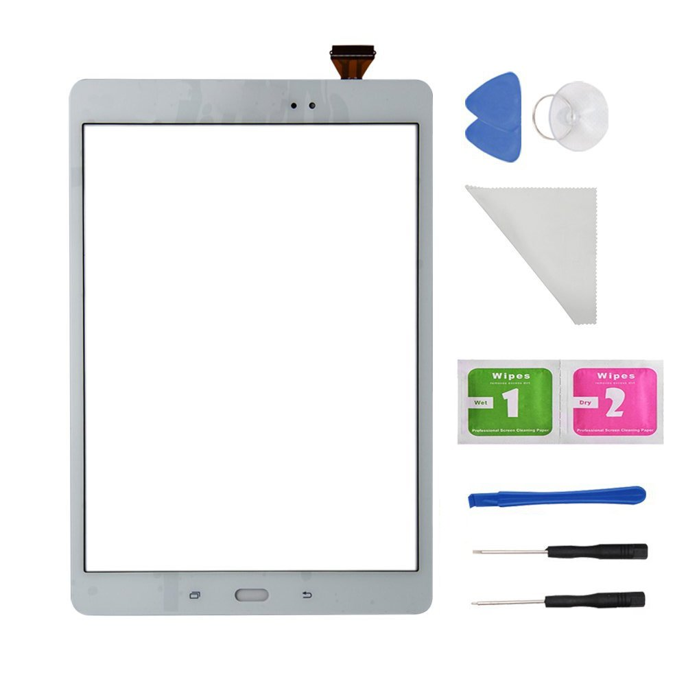 White Touch Screen Digitizer Glass For Samsung Galaxy Tab A9.7 SM-T550 T550 T551 T555 (Not Include LCD) With Adhesive and Tools