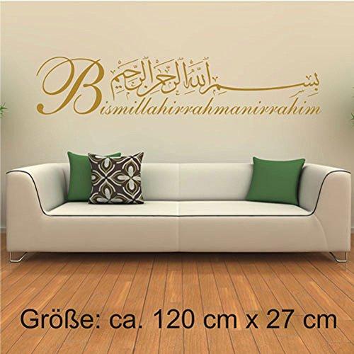 Wandtattoo Besmele Islam Allah Bismillah Aufkleber Arabisch Turkiye