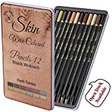 Dark Skin Tone Color Pencils for Portrait Set - Colored Pencils for Adults and Skintone Artist Pencils