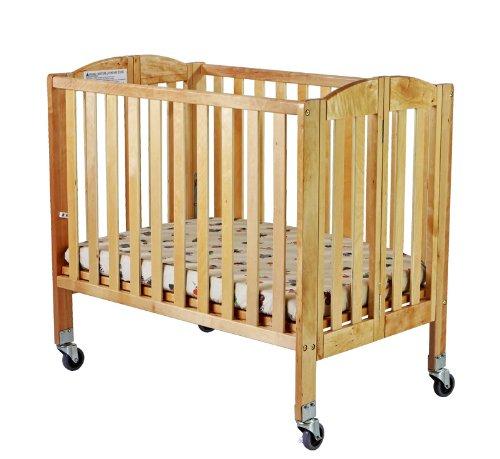 Dream On Me 2-in-1 Folding Birch Portable Crib, Natural
