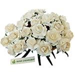nava-chiangmai-white-ivory-color-mulberry-paper-flower-40-mm-artificial-mulberry-paper-rose-flower-floral-diy-for-wedding-home-flower-decor-wedding-flower-bouquet