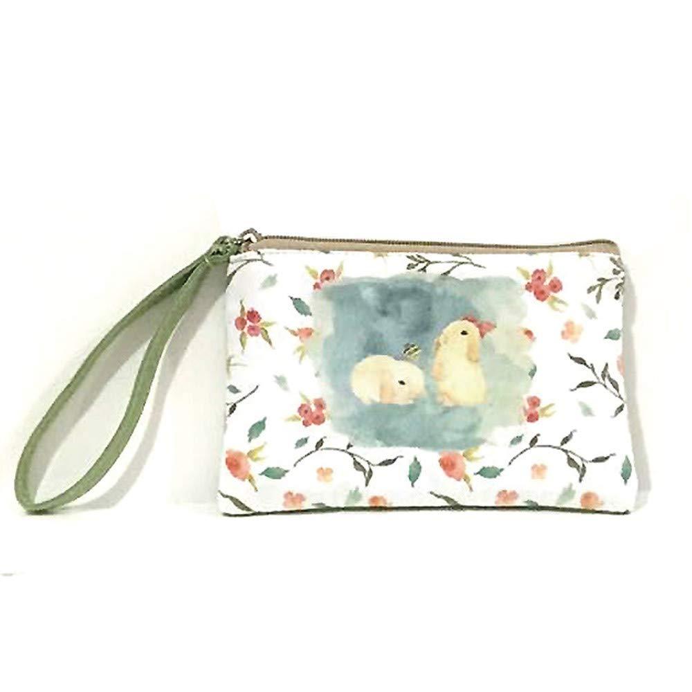 SMALLE ◕‿◕ Clearance,Womens Small Canvas Wallet Card Holder Zip Coin Purse Clutch Handbag