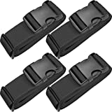 TRANVERS Luggage Straps For Baggage Belt Upright Security Belt Heavy Duty 4-Pack Black