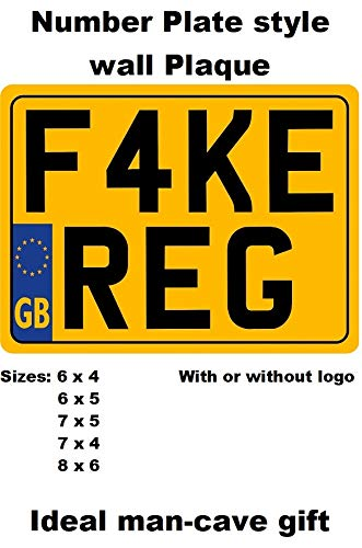 REAR NUMBER PLATE for Motorcycle SHOW PLATES not road legal with or with out border