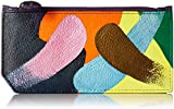 Anuschka Women's Genuine Leather RFID Blocking Card Case with Coin Pouch | Hand Painted Original Artwork | Painterly Palette