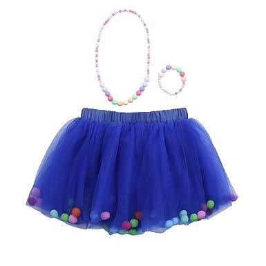 Vectry Bekleidungssets Baby Mädchen Kinder Outfits Tüllrock Tutu Rock + Armband + Halskette Set(0T-10T)