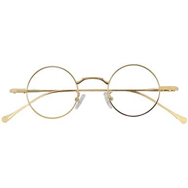 dc824493e93e6 Amazon.com  Agstum Retro Small Round Optical Eyeglasses Frame Rx ...