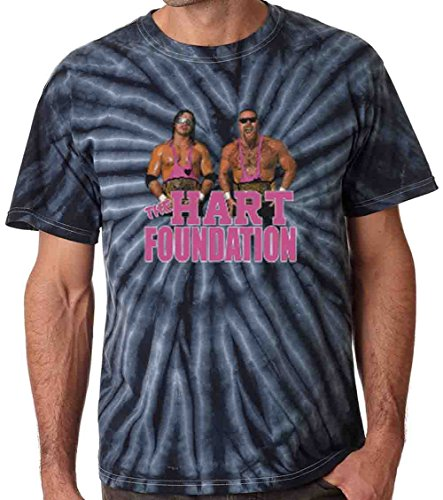 The Silo TIE DIE BLACK The Hart Foundation WWF T-Shirt YOUTH by The Silo