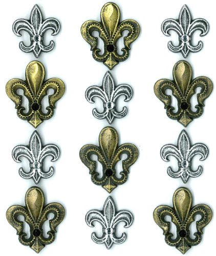 Jolee's Boutique Cabochons Dimensional Stickers, Fleur De Lis