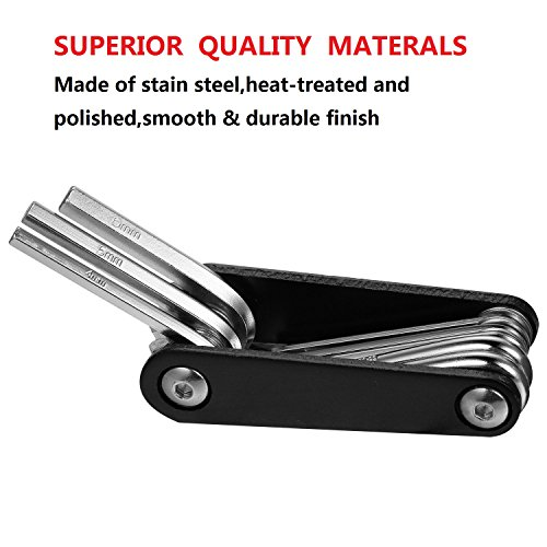 BONDEE Bike Bicycle Multi functional 9 in 1 Tools, Strong Full Stainless Steel, No Rust, Reliable, Compact and Lightweight Repair for Road and Mountain Bike Repair Tool Kit