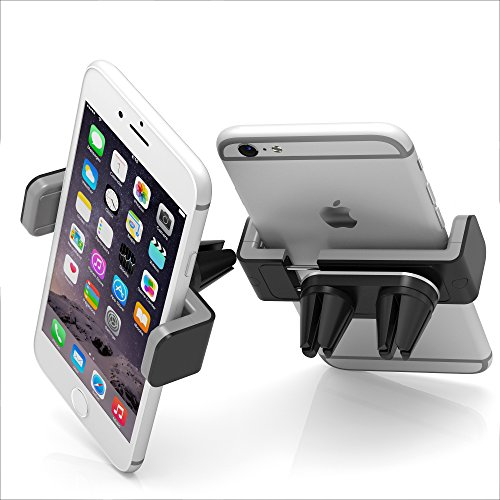 New Designed Air Vent Cell Phone Car Mount With Adjustable Size Up To 6''   Secure Double Clamp Grip, Compact & Durable Holder For All Smartphones & iPhones (Grey) by BESTRIX by Bestrix (Image #7)