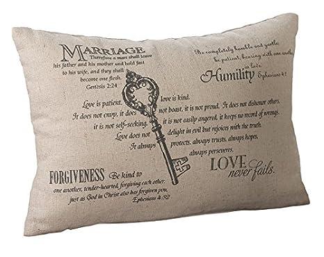 Amazon.com: Lillian Rose Cristiano Llavero almohada, 11 por ...