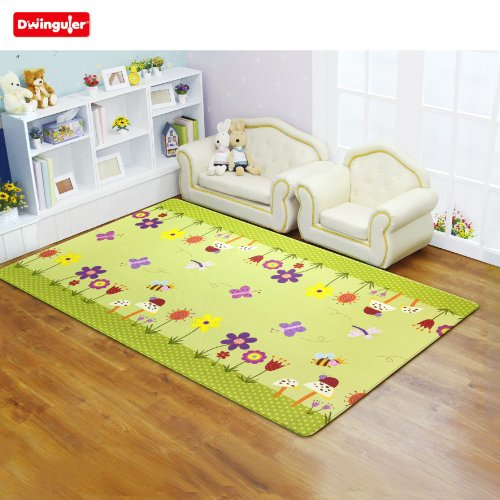 Dwinguler Eco-friendly Kids Play Mat – Garden Delight, Green Large