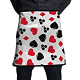 Cool Poker Cards Adjustable Apron With Pocket For Kitchen Garden Cooking Grilling Ladyâ€s Men's Great Gift For Wife Ladies Men Boyfriend