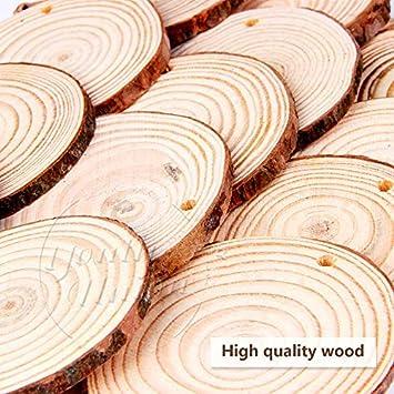 Bois naturel Inachev/ée en Bois Craft Kit Pr/éperc/és pour les Arts et les M/étiers de No/ël Ornements Bricolage Artisanat Thanksgiving