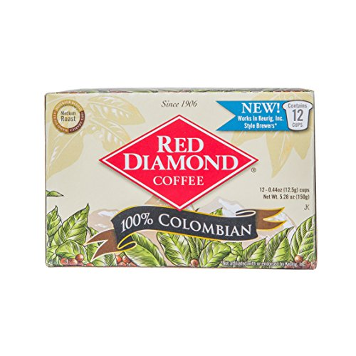 Red Diamond Single Serve K-Cup Coffee, Colombian Blend, 12 Count (Pack of 6) (72 Servings)
