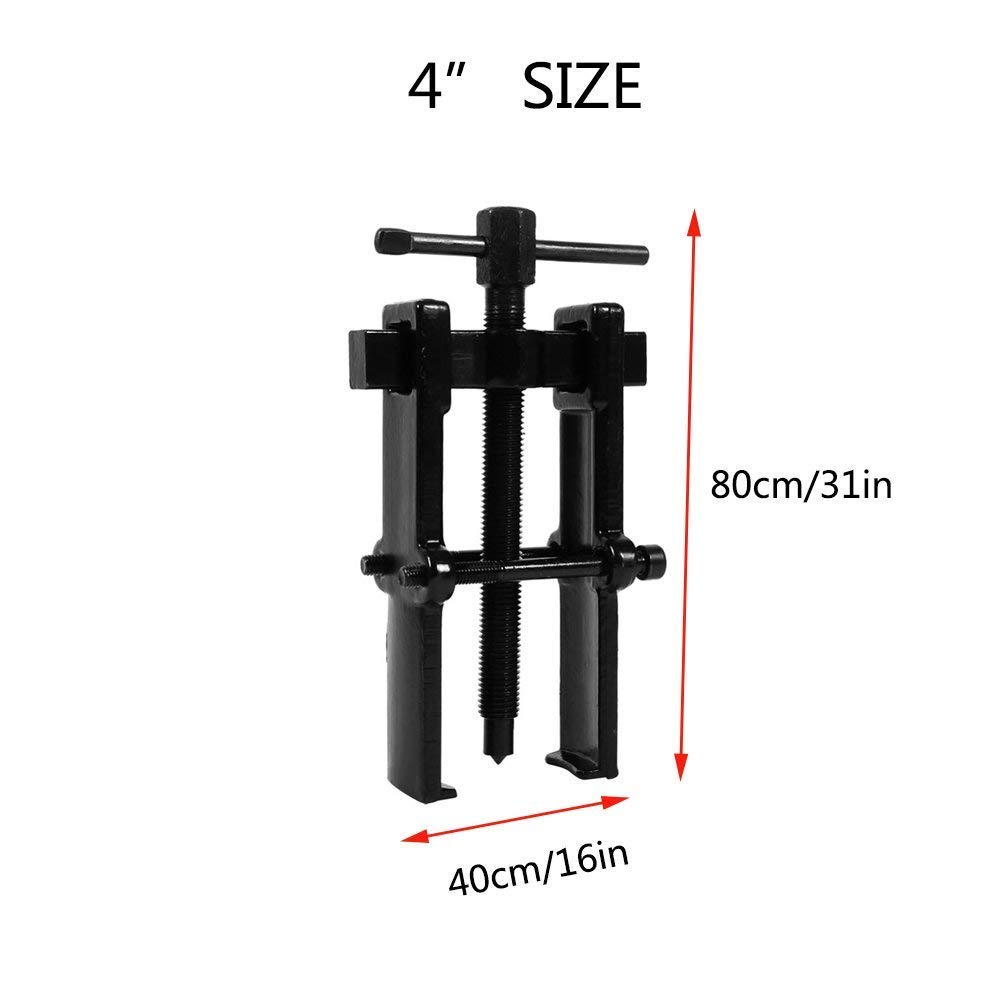 Chanoc Adjustable Two Jaw Pilot Bearing Puller Tool Carbon Steel Pump Pulley Remover Straight Type 3 Inch