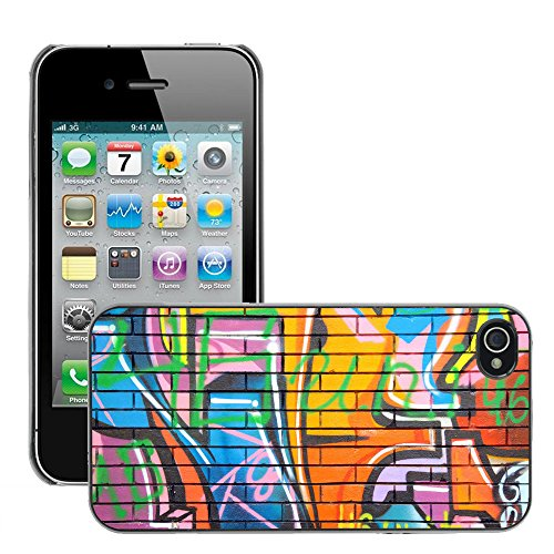 Premio Sottile Slim Cassa Custodia Case Cover Shell // V00002252 Graffiti // Apple iPhone 4 4S 4G