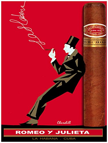 Posters Universe 20x30 Decor CANVAS.Interior design.Red Romeo Julieta Cuban ()
