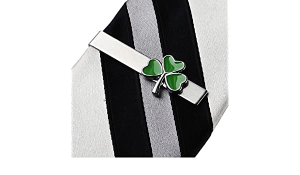 f5c0b5c3e664 Amazon.com: Quality Handcrafts Guaranteed Shamrock Tie Clip: Jewelry