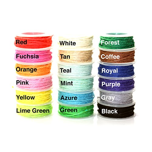 Mimi Pack 594 ft 2mm Jute Twine String Hemp Jute Rolls for Artworks, DIY Crafts, Gift Wrapping, Picture Display and Embellishments (18 Rolls) by Mimi Pack (Image #6)