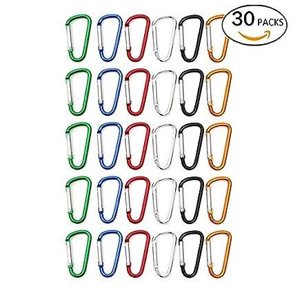 Amazoncom V Best 30 Pcs Aluminum D Ring Carabiner Clip Small