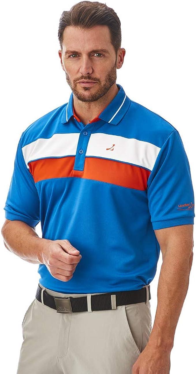 Under Par Upts1892 - Mens Contrast Cut N Sew Panel Detail Poloshirt - Camisa de Polo Hombre