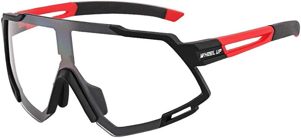BESPORTBLE Gafas de Seguridad Gafas de Sol Deportivas Protectoras Gafas de Cambio de Color Protector Ocular Antipolvo Senderismo Senderismo Gafas Al Aire Libre Negro Rojo