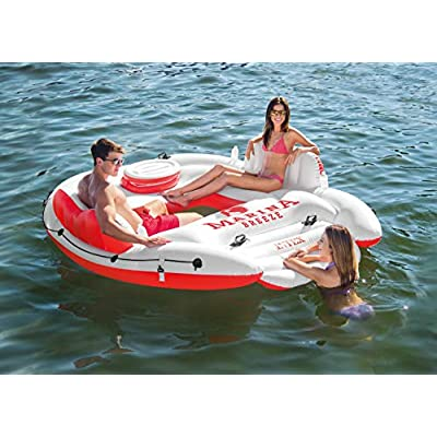 Intex Marina Breeze Island Raft + Oasis Island Inflatable Giant 5 Person Raft: Toys & Games